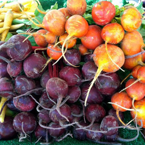 The Beverly Hills Farmers Market offers a variety of Fresh Veggies.