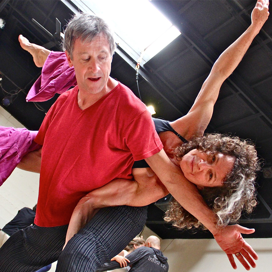 Miranda Joneschild and Kirk Glaser at Dance Church. Photo by Chip Scheuer.