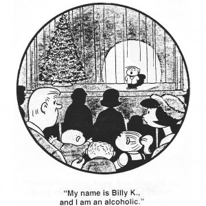 Billy, of one of Bil Keane's creations in The Family Circus, makes his confession.