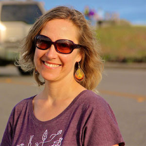 Saskia Lucas, founder of Santa Cruz Open Streets, will oversee Sunday's closure of West Cliff Drive to cars, from 9am-2pm. Last year's event drew 9,000 participants. Photo by Chip Scheuer.