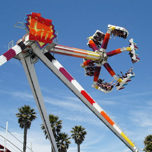The Fireball is the smoothest ride on the Boardwalk. Evil, but smooth. Photo by Jim Whitehead.