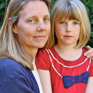 Dr. Katherine Reid with her daughter, Brooke. Photo by Chip Scheuer.