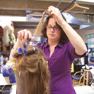 Jeanna Hurd-Parham is the wig designer for UCSC Opera, which performs Mozart's 'Cosi fan tutte' this weekend. Photo by Georgia Perry.