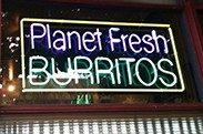 Planet Fresh Gourmet Burritos logo