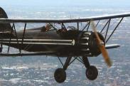 Black & White Biplane logo