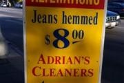 Adrian's Cleaners logo