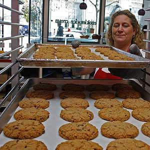 Pacific Cookie Company exerts a magnetic force over many people the moment they set foot downtown. Photo by Curtis Cartier.