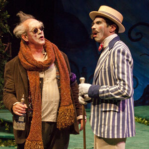 Paul Vincent O'Connor as Sir Toby Belch (left) and William Elsman as Sir Andrew Aguecheek. (r.r. jones)
