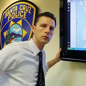 Santa Cruz PD spokesman Zach Friend says predictive policing reduces crime at no cost. (Chip Scheuer)