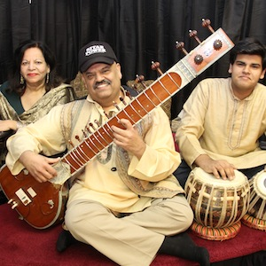 Ashwin Batish (center), with his sister Meena, who has been singing with him since they played Beatles songs together as kids, and son Keshav, who plays drums. Along with Myron Dove on bass and Murray Low on keyboards, they'll performJan. 30 at the Kuumbwa in Santa Cruz.