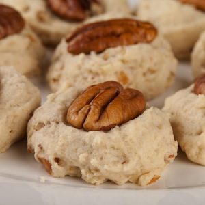 Pecan sandies (especially from the Buttery) are part of a holiday culinary tradition.