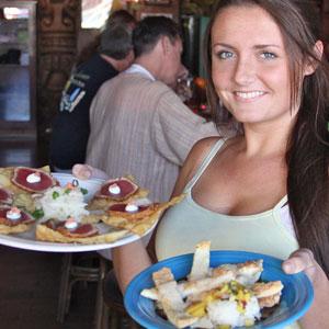 Olivia Coraggio of Hula's Island Grill. Photo by Chip Scheuer.