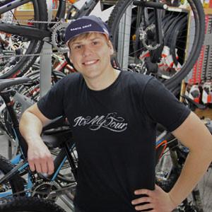 Gene Selkov of Spokesman Bicycles.