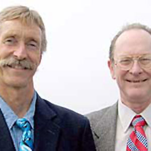 Thomas LaHue (left), president of the Soquel Creek Water District Board, and Bruce Daniels, vice-president.