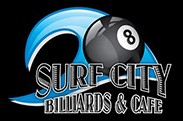 Surf City Billiards logo