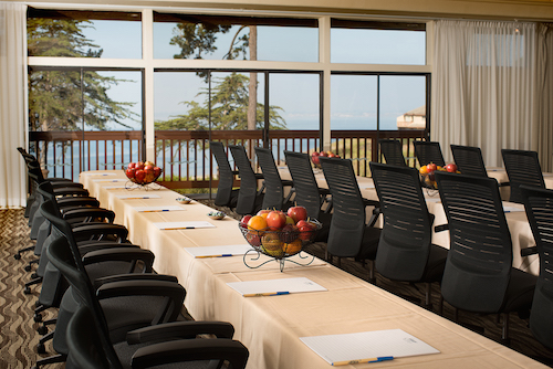 The Seascape conference room allows for ocean views.